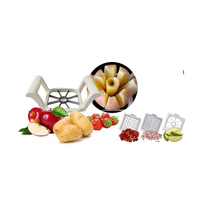 Multi chopper d coupe fruits et l gumes blanc jumia for Decoupe fruit decoration