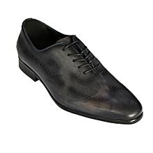 chaussures pour homme richelieu - cuir -bleu nuit