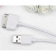 câble usb chargeur sync data 2.0 pour iphone 4s 4 3gs 3g ipod - blanc