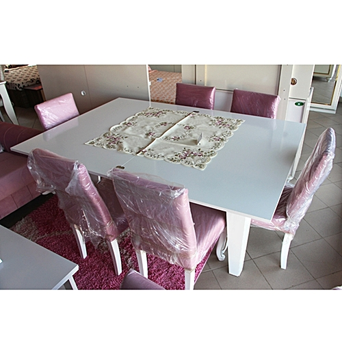 table manger 6 chaises large et confortable en bois rose