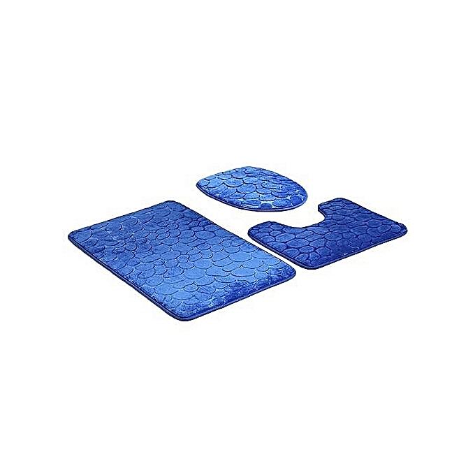 White label lot de 3 tapis pour salle de bain bleu clair prix pas cher jumia sn for Tapis pour salle de bain