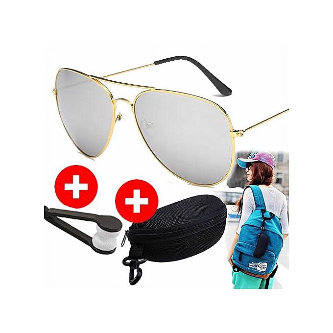 02af418752 Lunette de Soleil Fashion - Cadre Aviateur Couleur Or - Accessoire pour  Homme et Femme -