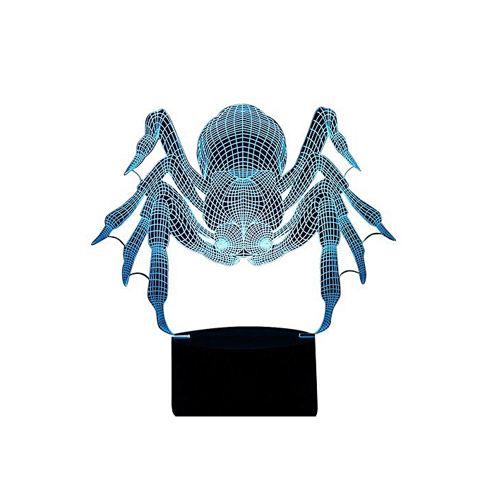 Spider Crawl 3d Led Night Light Lamps 3d Optical Illusion 7 Colors For Home