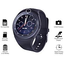 montre connectée - y1s -avec appareil photo - compatible avec android et ios- ecran tactile support micro carte sim - noir