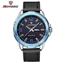 80197 marque de luxe en cuir date montre casual hommes sport montres quartz montre-bracelet militaire horloge masculine