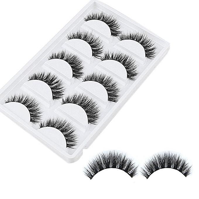 5 paires 3d naturel faux cils maquillage jumia s n gal for Accessoires de salon