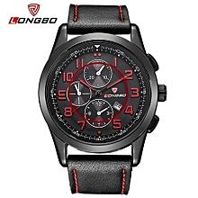 80191 luxe marque homme montre en cuir sport casual montres à quartz pour hommes loisirs horloge montre militaire