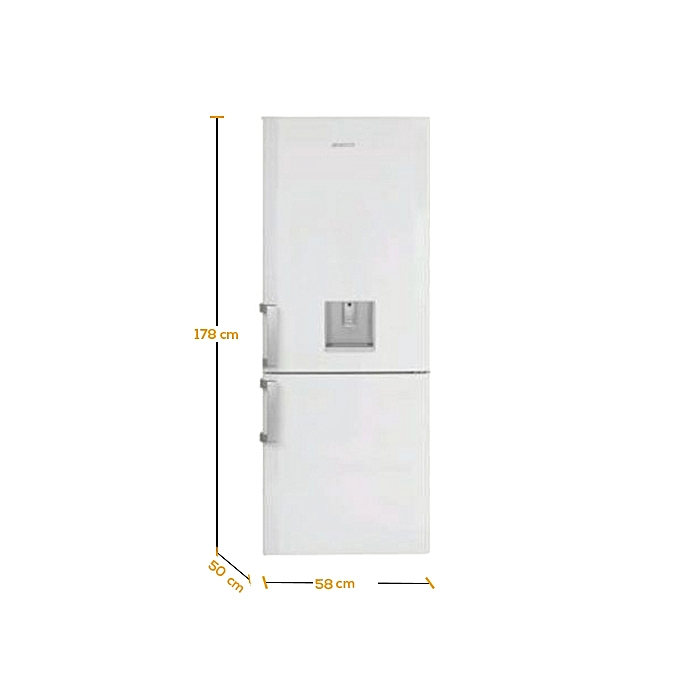 beko r frig rateur combin 2 portes 300 litres ch134100 garantie 1 an blanc classe a au. Black Bedroom Furniture Sets. Home Design Ideas