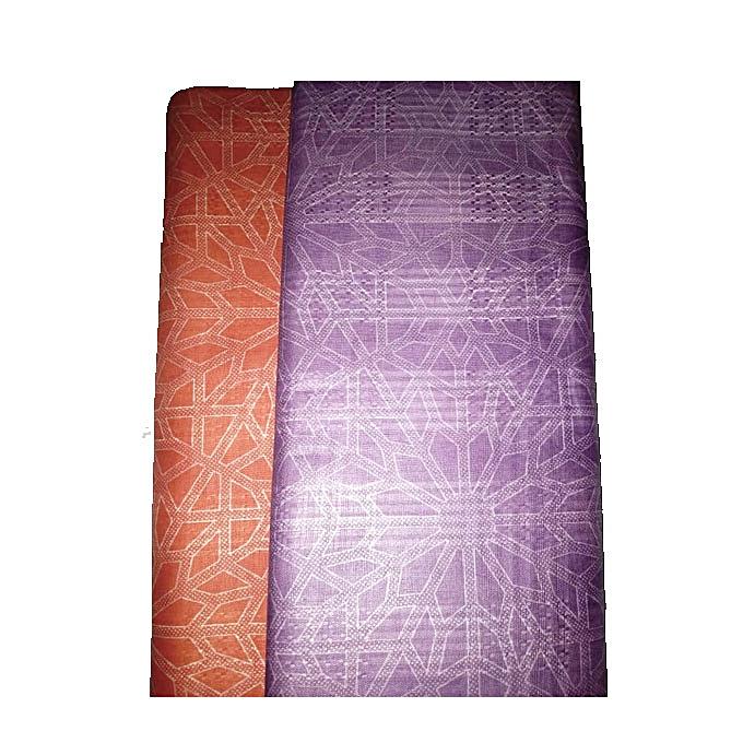 White Label Tissu thioup 2 Tons en Couleur Orange et Mauve clair ...