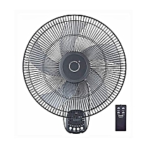 ventilateur mural oscillation evernal - gris