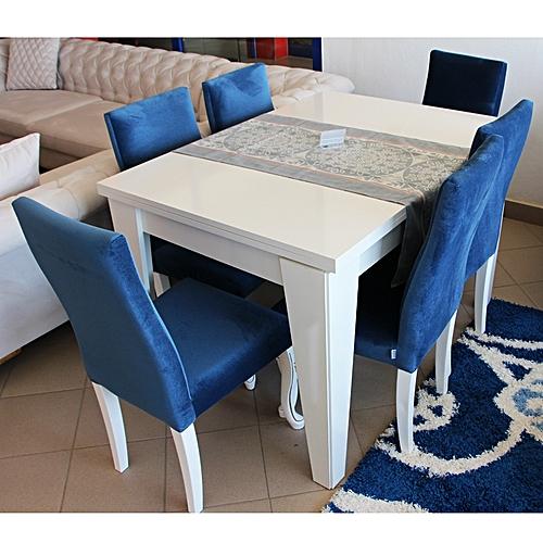 table manger 6 chaises bianco dungun paketi bleublanc