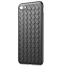 coque iphone 7 8 - grille luxe lisse souple - étui en silicone - noir
