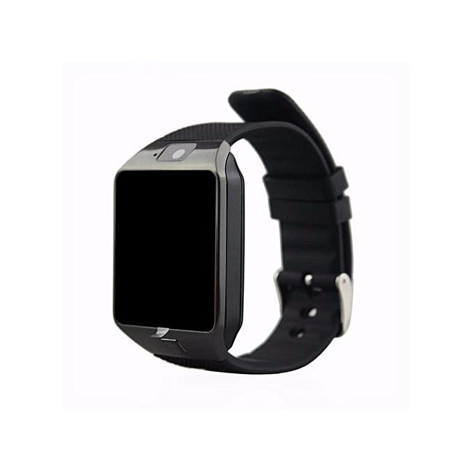 authentic montre connect e dz09 bluetooth smart cam ra carte sim alarme noir au. Black Bedroom Furniture Sets. Home Design Ideas