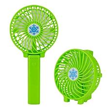 mini ventilateur rechargeable usb à manche - vert