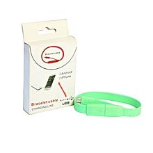 bracelet micro usb chargeur portable réglable et câble de données pour samsung htc nokia blackberry moto lg