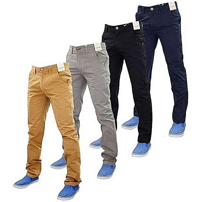 De Coton 4 Pour Pantalons Chinos Pack Beige Homme White Label 8qawUtxqE