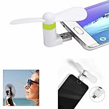 mini ventilateur usb - micro usb - pour android - blanc