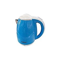 bouilloire electrique - 1500 w - 2 litres - bleu