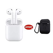 paire écouteurs bluetooth universel - 1 etui offert - blanc