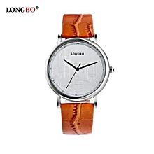 80035l marque de luxe quartz montre mode casual bracelet en cuir montres hommes montre de sport