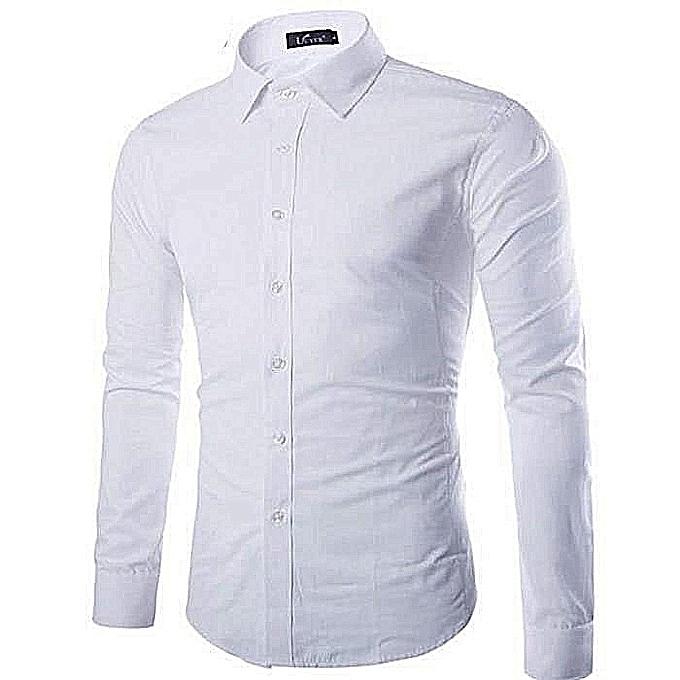 Chemise Homme - Slim FIT - Manche Longues - Blanc e761e8a15ec6