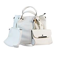 ensemble sac à main - 3 pièces - blanc
