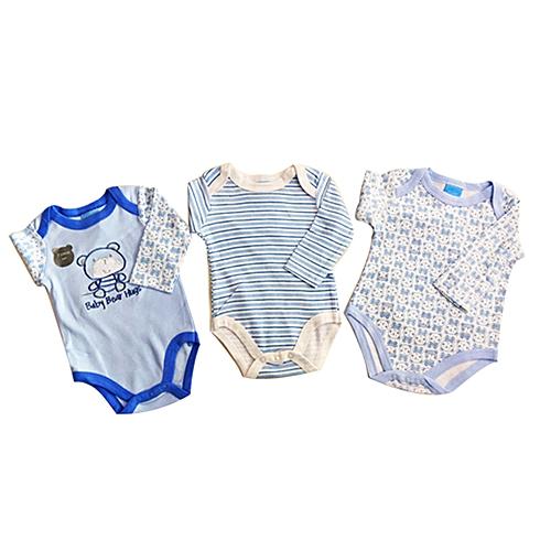 White Label Lot 3 Bodys Bébé Manches Longues - Baby Bear Hugs - Bleu ... 02b8f4afe5c