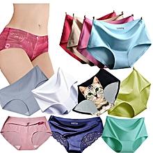 8c2077d0c358 Lot de 12 Culottes sans Couture en Soie Glacée - Multicolore