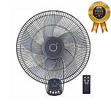 ventilateur mural - 16 pouces oscillation à 90 degrés, 3 réglages de vitesse, inclinaison réglable + télécommande