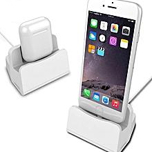 station de recharge 2 en 1 pour iphone et airpods