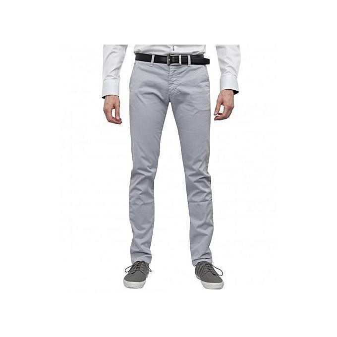 White Label Pantalon Chino Homme - Gris - Prix pas cher  87d2e27df65f