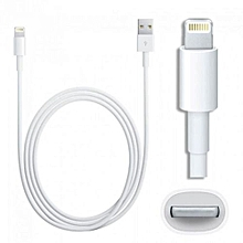 cable iphone lightning - blanc