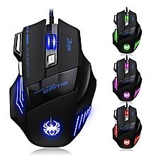 zelotes t80 rétro-éclairage 7200 dpi 7 bouton souris gamer gaming multi couleur led optique usb filaire gaming mouse pour pro gamer