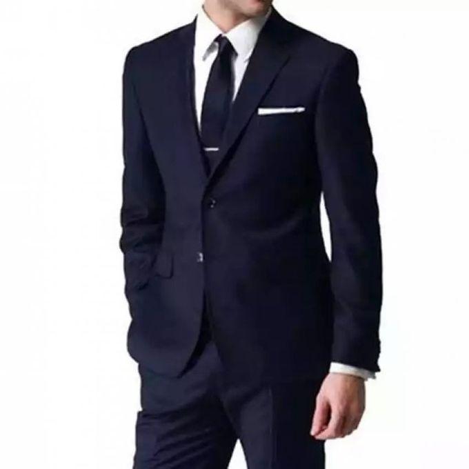 White label costume bleu marine de deux pi ces veste pantalon coupe pr s du corps acheter - Magie corps coupe en deux ...