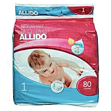 pack 80 couches bebe allido - 3-6 kg