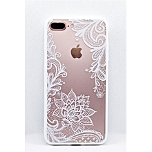 coque iphone 8+ - dentelle blanche