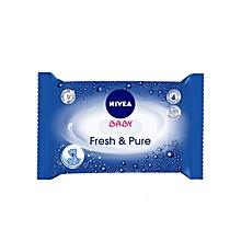 lingettes pour bébé «fresh & pure» - 63 lingettes
