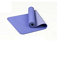 tapis yoga doux confort - bleu