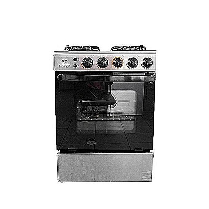 nasco cuisini re gaz 4 feux 60x60 inox avec allumage. Black Bedroom Furniture Sets. Home Design Ideas