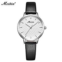 marque luxe femmes montres à quartz en cuir casual mode