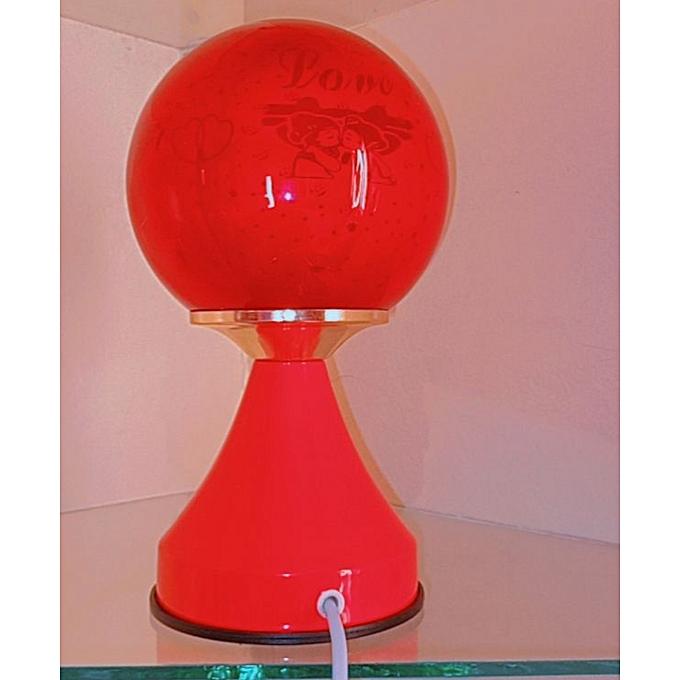 White Label Lampe De Chevet Tactile 3 Niveaux D Intensite Rouge