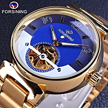mens watches luxury automatic wristwatch clock luxury-golden