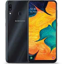 """samsung galaxy a30 -  6.4"""" - ram : 4go - rom : 64go - caméra principale : double focus 16 megapixels + 5 megapixels - batterie : 4000mah - charge rapide - noir"""