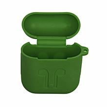 étui airpods  en silicone - vert armée  (army green)