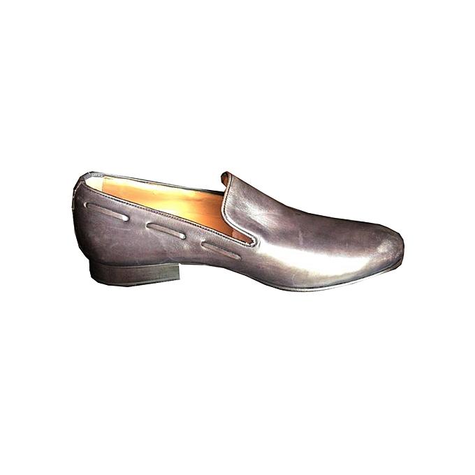 White Label Chaussures de Ville Homme - En Cuir italien - Noir ... 33255bf60162