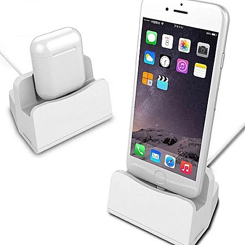 generic station de recharge 2 en 1 pour iphone et airpods. Black Bedroom Furniture Sets. Home Design Ideas