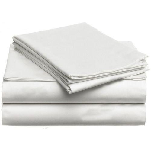 White label draps de lit blanc en coton 100 king size acheter en ligne j - Acheter un lit king size ...