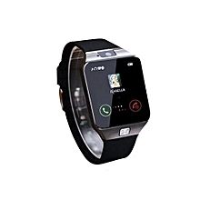 montre connectée dz09 - ecran tactile - bluetooth - appel & sms - caméra - carte sim - alarme - compatible android & ios - noir