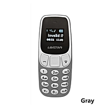 mini phone wireless bluetooth dialer bm10 with earphone hand free headset smaller-grey