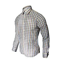 chemise pour homme à carreaux manches longues - slim fit - multicolore
